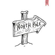 North Pole sign vector illustration