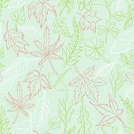 Seamless background - Leaves and botanic