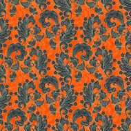 Seamless Paisley pattern in indian style N2
