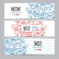 Cats banners template
