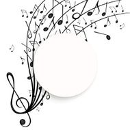 Vector Background with Music Notes N27