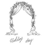 Wedding arch Decoration Vector sketch Design element N2