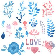 Watercolor nature clip art N4