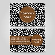 vector business card N4
