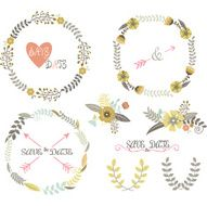 Vintage Wedding Wreath Laurel Elements
