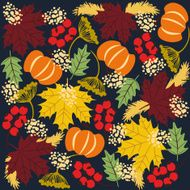 Autumn Season background with fall elements