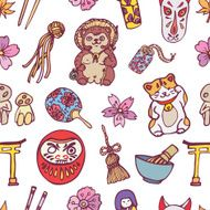 Vector seamless japanese pattern