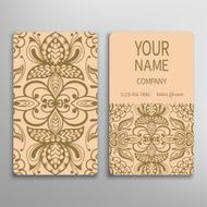 Business card decorative ornamental invitation collection Hand drawn Islam Arabic N5