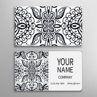 Business card decorative ornamental invitation collection Hand drawn Islam Arabic N6