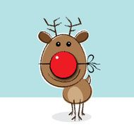 Reindeer with Clown's Nose