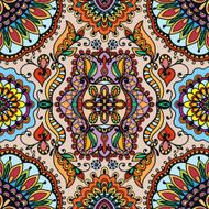 Vector geometric pattern with seamless texture Tribal ethnic ornament N6