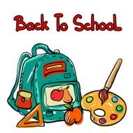 Back to school education icons cartoon set N10