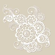 Vector floral pattern element indian ornament N2