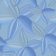 abstract flowers petals on a blue background