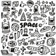 space - doodles set N3