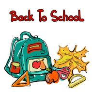 Back to school education icons cartoon set N11