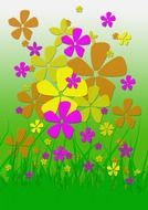 A lot of the colorful flowers clipart