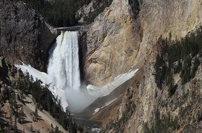waterfall of the Yellowstone river