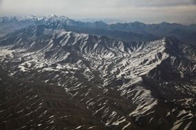 afghanistan mountains snow landscape
