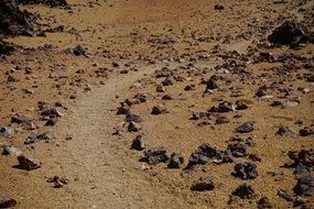 lunar landscape rock path