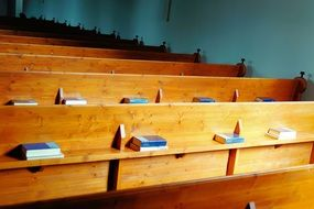 rows of church benches