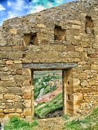 la rioja ruins landscape from doorway