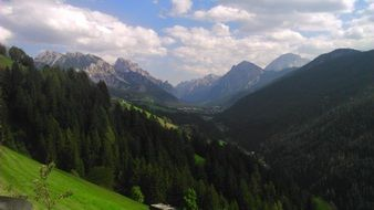 nice view of dolomites mountains italy