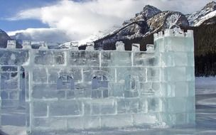 Ice Castle in Canada