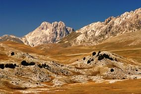 sandy mountains in italy
