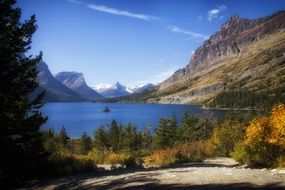 glacier national park lake montana