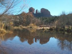 cathedral rock tranquil landscape