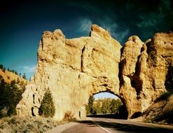 Stone arch on the road