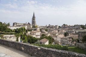 saint emilion town in france