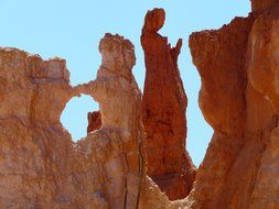 red rocks in the National Park, Bryce Canyon, Utah, USA