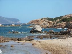 rocky coast near the sea in sardinia
