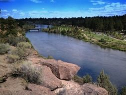 picturesque farewell bend park in oregon