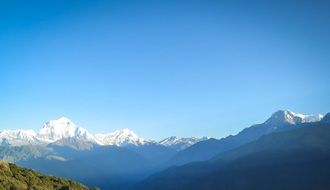 panorama of annapurna mountain rank in nepal