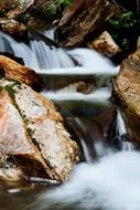 blurred cascade waterfall