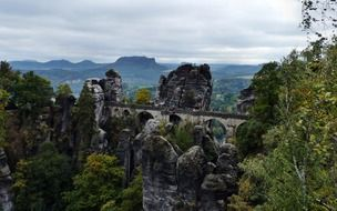 stone Bastei Bridge in Germany