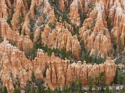top view of Bryce Canyon