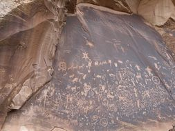 inscriptions on the rock