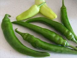 green healthy peppers