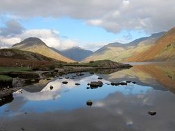 panoramic view of the lake district in england