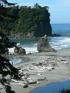 Ruby Beach in Olympic National Park, Washington