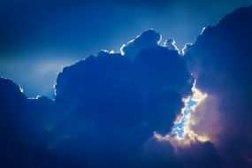 beautiful dramatic blue cloud