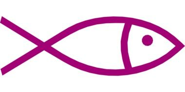 abstract purple outline of fish