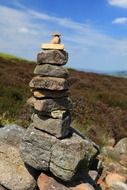 A lot of balanced rocks