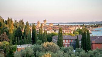 scenic view of Sirmione in Italy