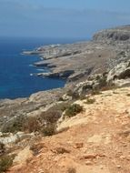 panorama of the rocky coast of the Mediterranean