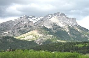 Landscape Picture of the rocky mountains